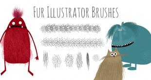 fur-hairy-illustrator-brushes-free