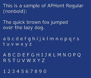 American Printing House for the Blind's typeface APHont.