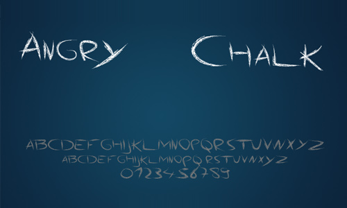 Angry Chalk font
