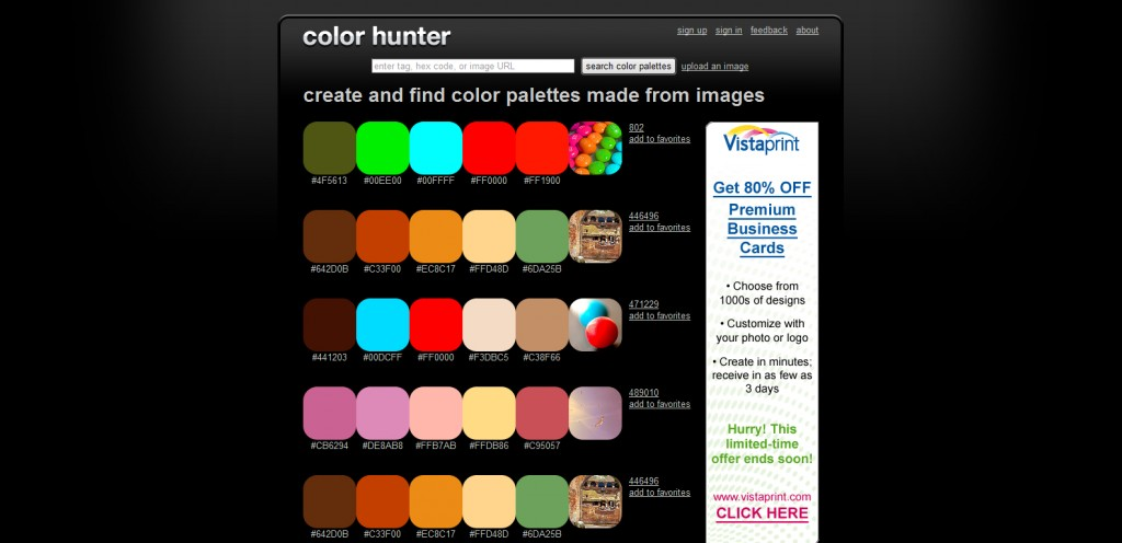 colorhunter 1024x496 Top 22 Helpful Color Tools for Designers